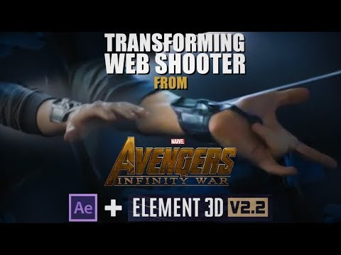Spider Man Transforming Web Shooter TUTORIAL | Adobe After Effects and Element 3D
