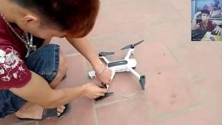 (Quá Nguy Hiểm) Nghịch Ngu Chế Flycam zino Thành Máy Cắt Cỏ Và Cái Kết....?#Truong_Vlog