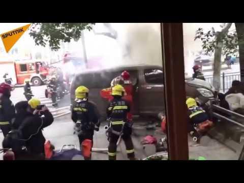 Car Slams Into Pedestrians in Shanghai