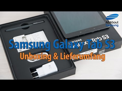 Samsung Galaxy Tab S3 Unboxing Lieferumfang und Einrichtung deutsch 4k