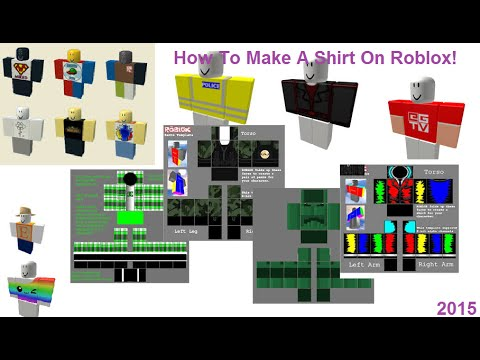 How to Make a Shirt On Roblox - Roblox 2015 - YouTube