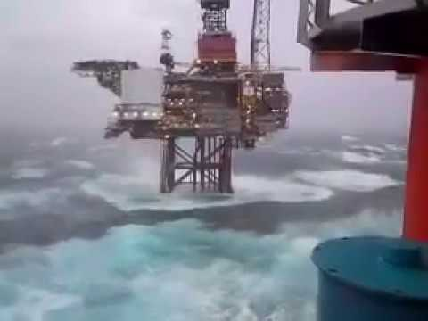 North Sea Platform  - This is a very tough weather condition