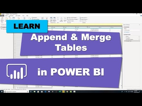 Append And Merge Tables In Power BI