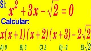 Productos Notables-Examen Ingreso a la  Universidad Nivel SAN MARCOS-Problema Resuelto-Álgebra