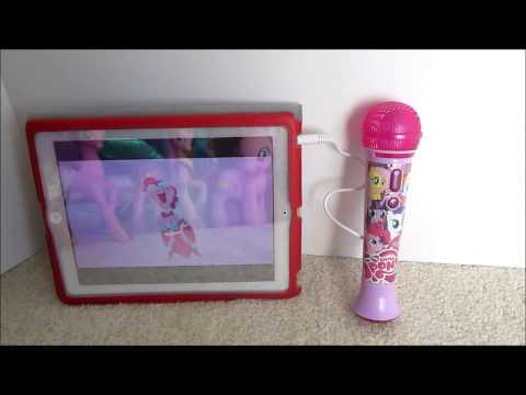 My Little Pony Sing Along Microphone with MP3/Ipad demonstration. Pinkie Pie is here!