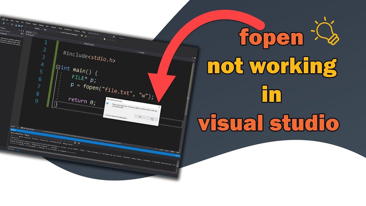 fopen not working in visual studio
