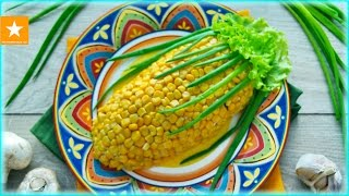 ★ САЛАТ КУКУРУЗА ★ Салат с кукурузой и черносливом от Мармеладной Лисицы ★ Праздничные салаты ★