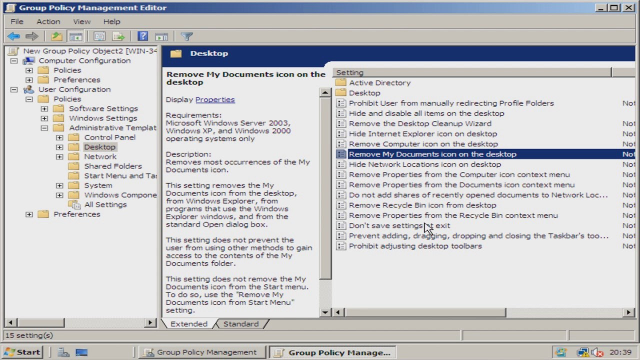 How To Add a Group Policy Object To a User on Windows Server 2008