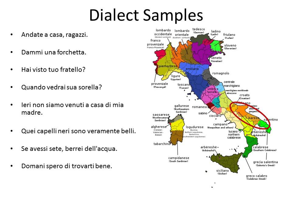 Italy Dialect Samples Youtube