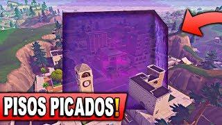 EL CUBO DESTROZARA PISOS PICADOS!!? en FORTNITE: Battle Royale