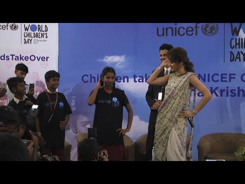 Watch Trisha Say Superstar's Punch Dialog and Dance with Kids