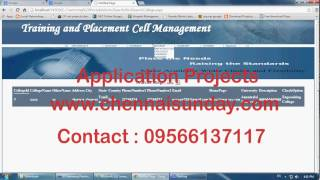 Training and Placement Cell Management