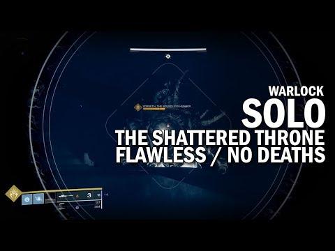 Solo Flawless The Shattered Throne Dungeon Warlock Destiny 2 Forsaken