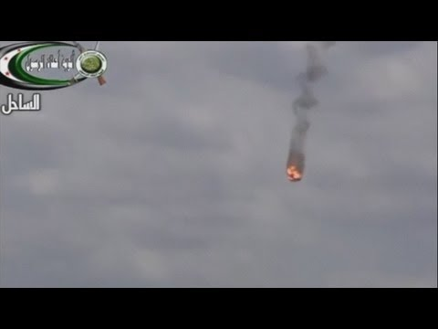 AMATEUR FOOTAGE: Syrian government helicopter 'shot down' by Turkish forces