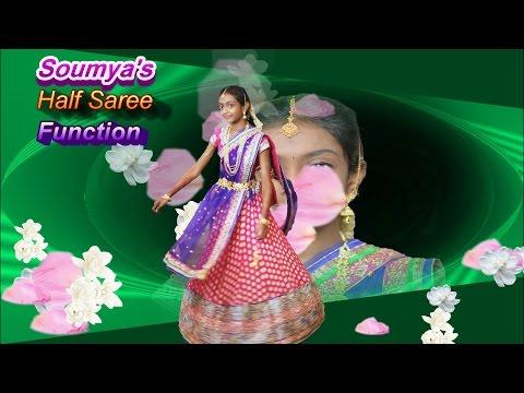 Soumya's Half Saree Function Video v2