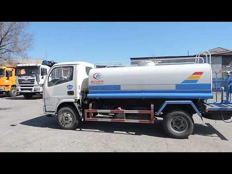 Поющий китайский водовоз CLW объёмом 5 м³ на шасси DongFeng - тест-драйв и описание в Алматы, 2019