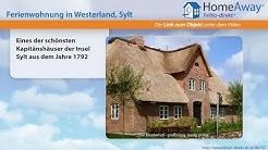 Westerland: Eines der schönsten Kapitänshäuser der Insel Sylt aus dem - FeWo-direkt.de Video