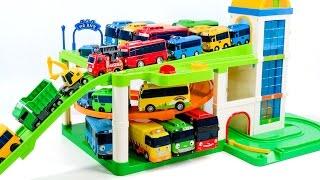 Little Bus Tayo Parking Lot Playset Car Toys 꼬마버스 타요 주차장 놀이 셋트 장난감 놀이 동영상