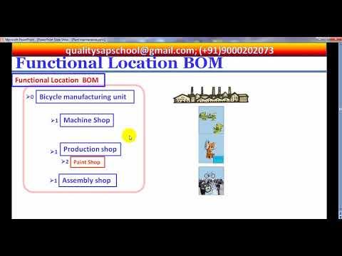 Functional Location BOM VS Equipment BOM