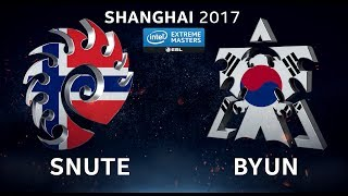 StarCraft 2 - Snute vs. ByuN (ZvT) - IEM Shanghai 2017 - Closed Global Qualifier Ro1