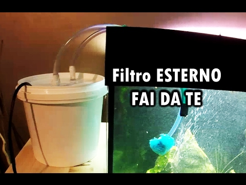 Filtro esterno per acquario fai da te youtube for Panchine fai da te
