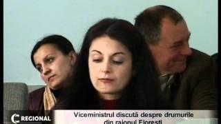 Viceministrul discută despre drumurile din raionul Floreşti