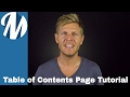 Create a Table of Contents Page for Digital Magazine using Magoft and the TypeLoft Editor