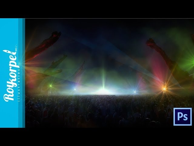 client work: Welcome to the Future Festival 2014 Promo - Photoshop time lapse