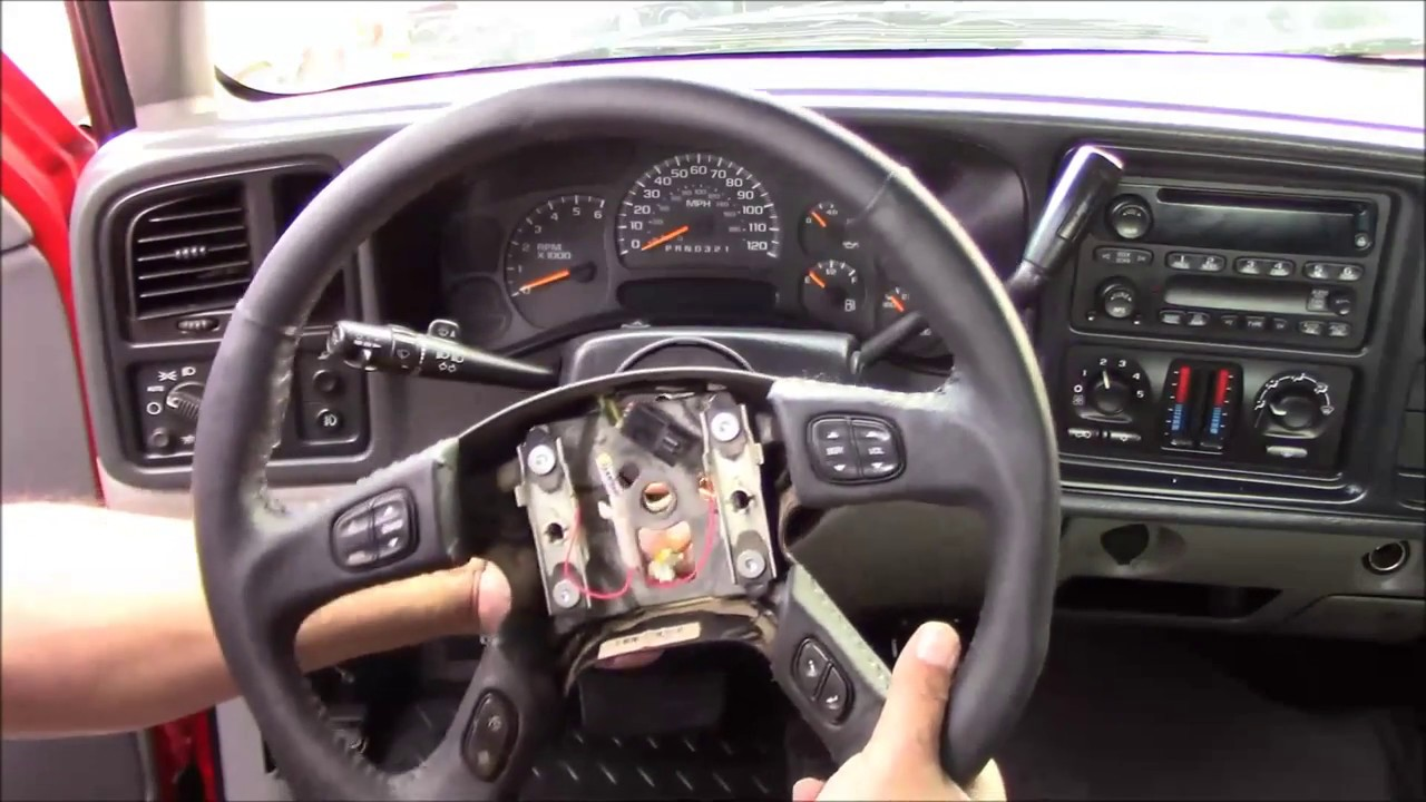 2002 2009 chevrolet gm truck suv air bag steering wheel replacement grant 61037 tutorial install [ 1280 x 720 Pixel ]