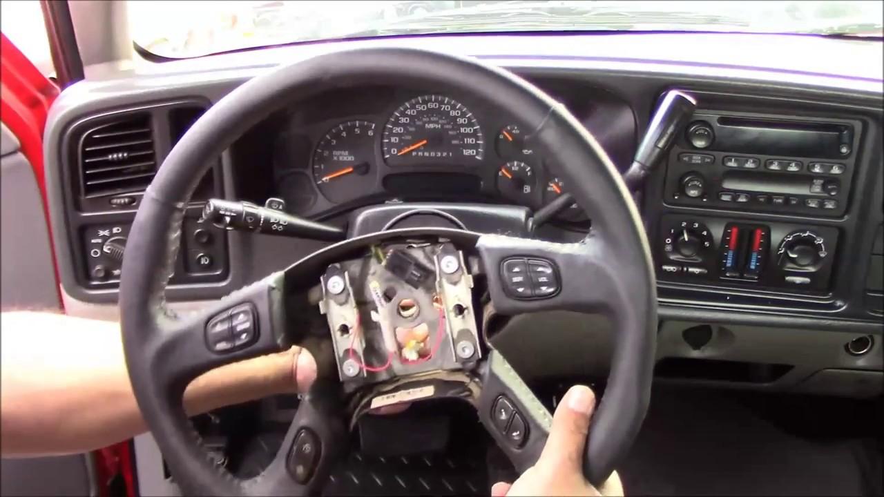medium resolution of 2002 2009 chevrolet gm truck suv air bag steering wheel replacement grant 61037 tutorial install