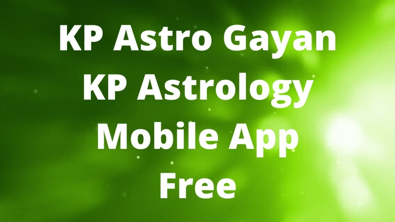 Kp Astrology Free