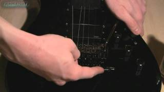 How To Change strings on a Floyd Rose Bridge Guitar