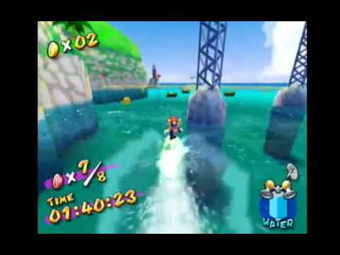 Super Mario Sunshine - Red Coins on Water 1:37.80