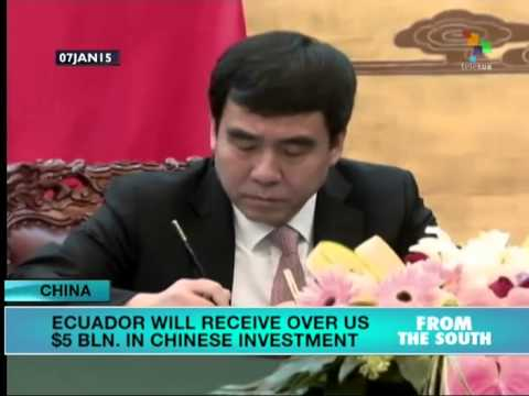 Ecuador will receive US$5 billion investment from Chinese bank