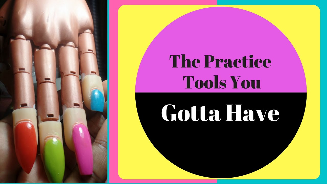 Nail Trainer Hand- Practice fingers and other tools. (Tutorial ...