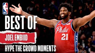 Joel Embiid Hype Up The Crowd Plays 👀