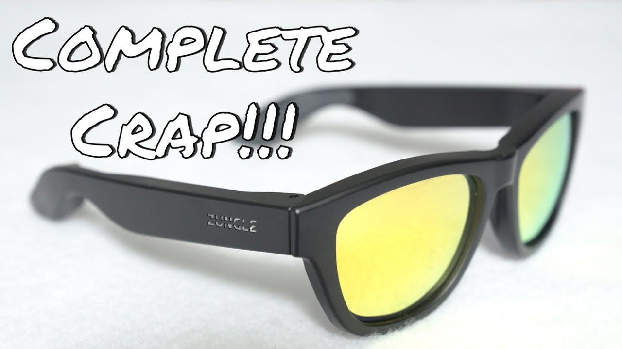 5483d8ee5e COMPLETE CRAP - Zungle Panther Bone Conduction Sunglasses - YouTube