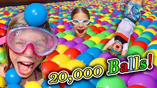 Ball Pit In Our New Pool At Our New House! 20,000 Colored Balls!