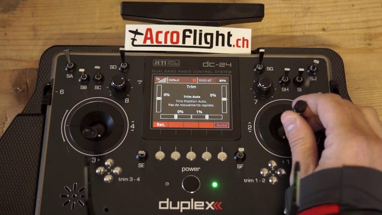 Tuto Auto trim JETI DC-24 / www.shop.acroflight.ch - YouTube