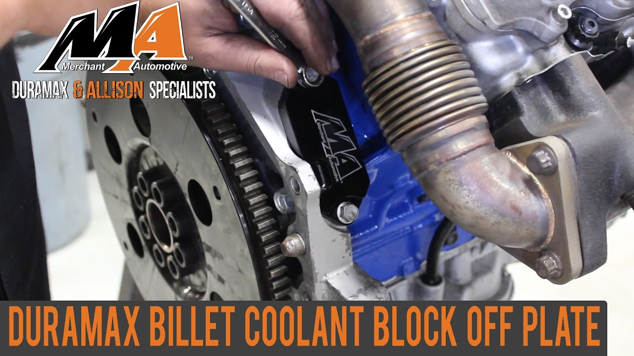 Duramax Billet Coolant Block Off Plate - YouTube
