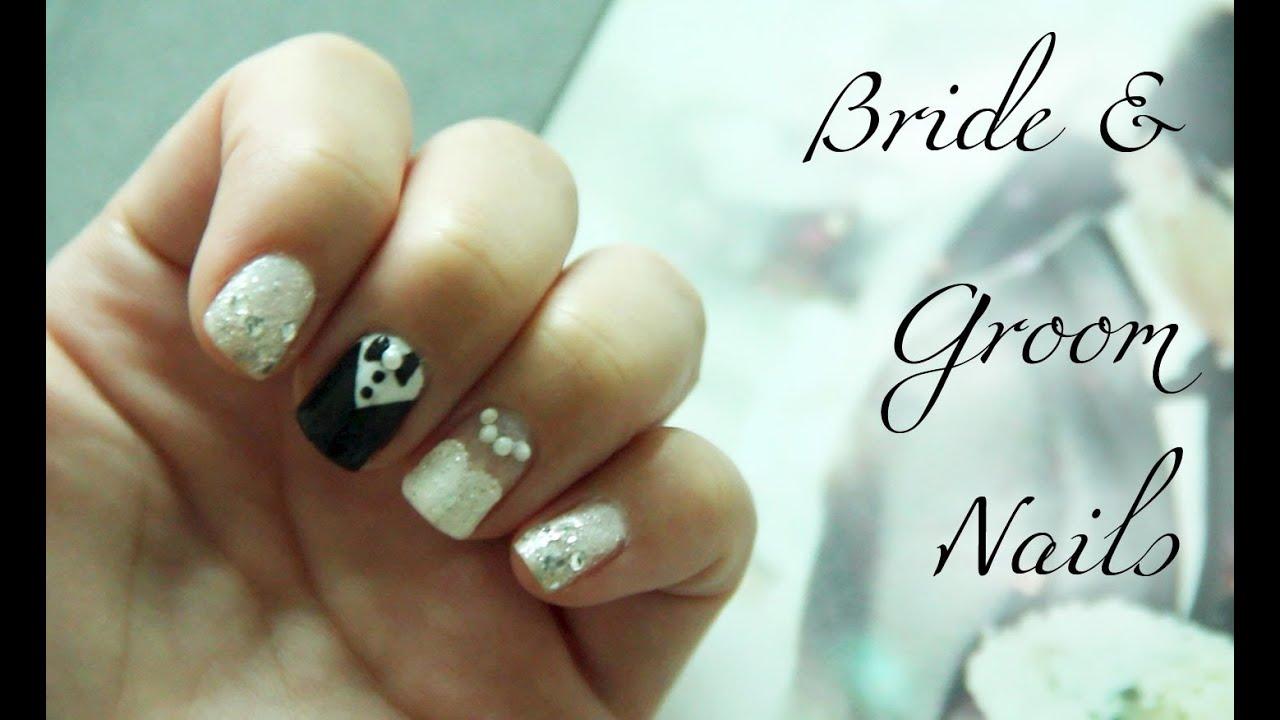 bride & groom nails