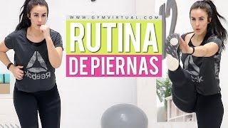 Adelgazar muslos y endurecer glúteos | Rutina de piernas