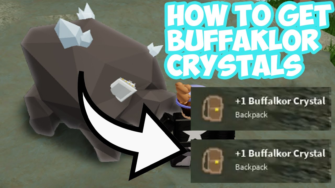 How To Get Buffalkor Crystal Islands Skyblock Roblox Youtube