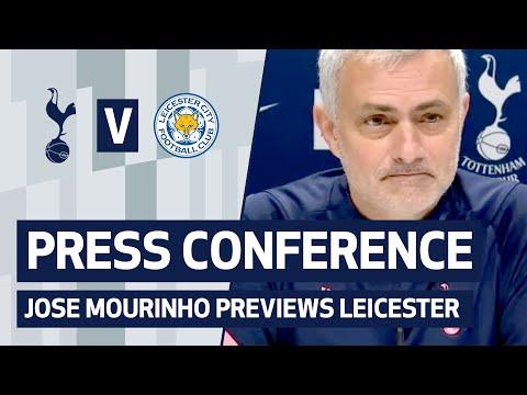 PRESS CONFERENCE   JOSE MOURINHO PREVIEWS LEICESTER