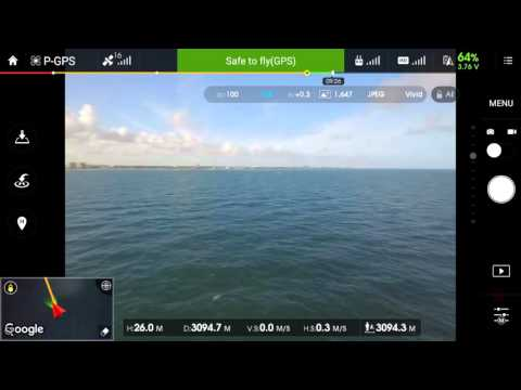 Phantom 3 Pro 3500 meters out to sea