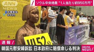 韓国元慰安婦訴訟 日本政府に損害賠償を命じる判決(2021年1月8日) - YouTube