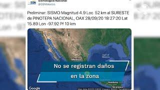 La Coordinación Estatal de Protección Civil de Oaxaca informó que no se reportan daños