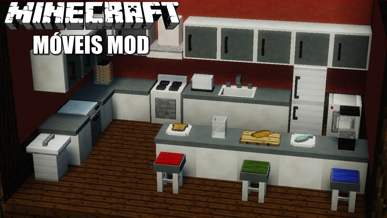 Minecraft M Veis Mod Computador Tv Geladeira Fog O Sof