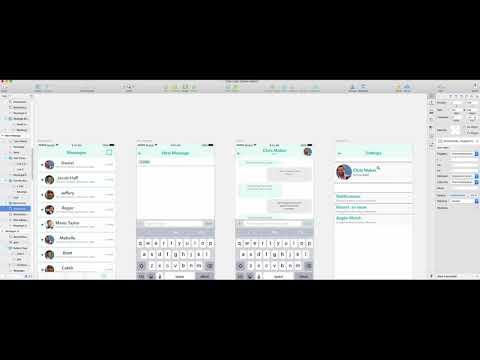 Chat Mobile APP Full Screens Design in Sketch.
