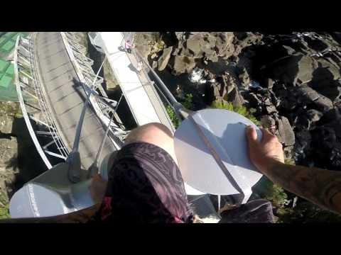 McLarens Falls New Zealand 75 Foot Bridge Jump | GoPro Hero 4
